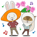 KAMI USAGI ROPÉ Pop-Up Sound Stickers Sticker for LINE & WhatsApp | ZIP: GIF & PNG