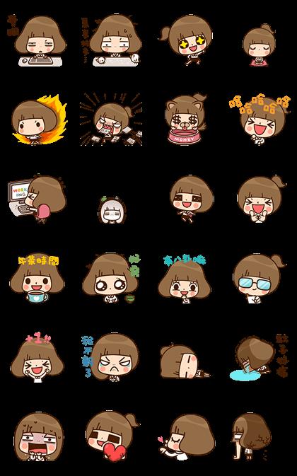 Kinoko's Work Life Line Sticker GIF & PNG Pack: Animated & Transparent No Background | WhatsApp Sticker