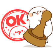 LINE Career × Stinging Tongue Seal Sticker for LINE & WhatsApp | ZIP: GIF & PNG