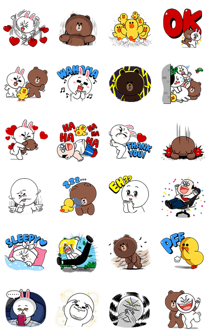 LINE Characters: High Voltage Line Sticker GIF & PNG Pack: Animated & Transparent No Background   WhatsApp Sticker