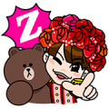 LINE Characters + Momoiro Clover Z Sticker for LINE & WhatsApp | ZIP: GIF & PNG
