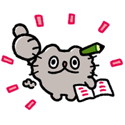 LINE Kakeibo × Boo-chan Sticker for LINE & WhatsApp | ZIP: GIF & PNG