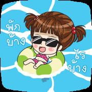 LUNA: Hello Summer Sticker for LINE & WhatsApp | ZIP: GIF & PNG