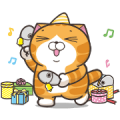 Lan Lan Cat: Party Time! Sticker for LINE & WhatsApp | ZIP: GIF & PNG