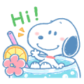 Lovely Snoopy's Summer Sticker for LINE & WhatsApp | ZIP: GIF & PNG
