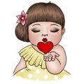 Meimei Power Sticker for LINE & WhatsApp | ZIP: GIF & PNG