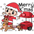 Merry X'mas and Happy NY with Wall's Man Sticker for LINE & WhatsApp | ZIP: GIF & PNG
