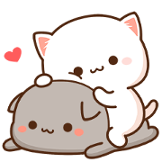 Mochi Mochi Peach Cat & Friend 2 Sticker for LINE & WhatsApp | ZIP: GIF & PNG