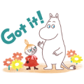 Moomin Polite Stickers (Watercolors) Sticker for LINE & WhatsApp | ZIP: GIF & PNG