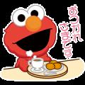 Morinaga Biscuit × Sesame Street Sticker for LINE & WhatsApp | ZIP: GIF & PNG
