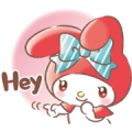 My Melody: Heartful Days Sticker for LINE & WhatsApp | ZIP: GIF & PNG