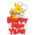 New Year Big Surprise from Krungsri Sticker for LINE & WhatsApp   ZIP: GIF & PNG