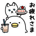 Noisy chicken × doorfumi Sticker for LINE & WhatsApp | ZIP: GIF & PNG