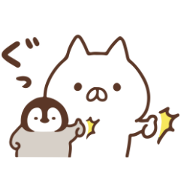 Penguin and Cat Days × UNIQLO Sticker for LINE & WhatsApp | ZIP: GIF & PNG