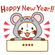 Rascal CNY Stickers Sticker for LINE & WhatsApp | ZIP: GIF & PNG