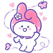 Sanrio Characters × BaoBao Never Tell Sticker for LINE & WhatsApp | ZIP: GIF & PNG