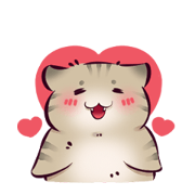Si Unis: Cat Noises Sticker for LINE & WhatsApp | ZIP: GIF & PNG
