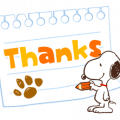 Snoopy's Supersized Animated Phrases Sticker for LINE & WhatsApp | ZIP: GIF & PNG