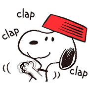 Snoopy Gets Movin' Sticker for LINE & WhatsApp | ZIP: GIF & PNG