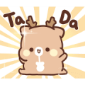 SweetHouse Happy Deer 2 Sticker for LINE & WhatsApp | ZIP: GIF & PNG
