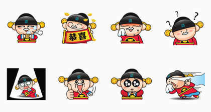 Taipei Fubon doll Line Sticker GIF & PNG Pack: Animated & Transparent No Background | WhatsApp Sticker