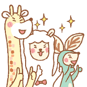 The Long Neck Gang: It's Workout Time! Sticker for LINE & WhatsApp | ZIP: GIF & PNG