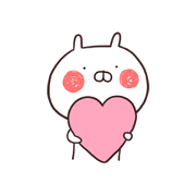 Usamaru Keeps Movin' Sticker for LINE & WhatsApp | ZIP: GIF & PNG