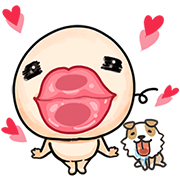 Wan Wan: Shake Bum Bum Sticker for LINE & WhatsApp | ZIP: GIF & PNG