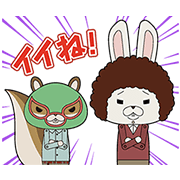 Winter KAMI USAGI ROPÉ Sound Stickers Sticker for LINE & WhatsApp | ZIP: GIF & PNG