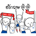 World Cup England Supporters Stickers