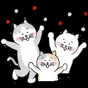 hokuohkurashi's cat stickers Sticker for LINE & WhatsApp   ZIP: GIF & PNG
