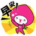 momoco & Dr. kiwi Sticker for LINE & WhatsApp | ZIP: GIF & PNG