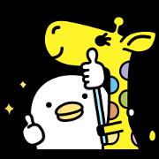 nanaco × Noisy Chicken Sticker for LINE & WhatsApp | ZIP: GIF & PNG
