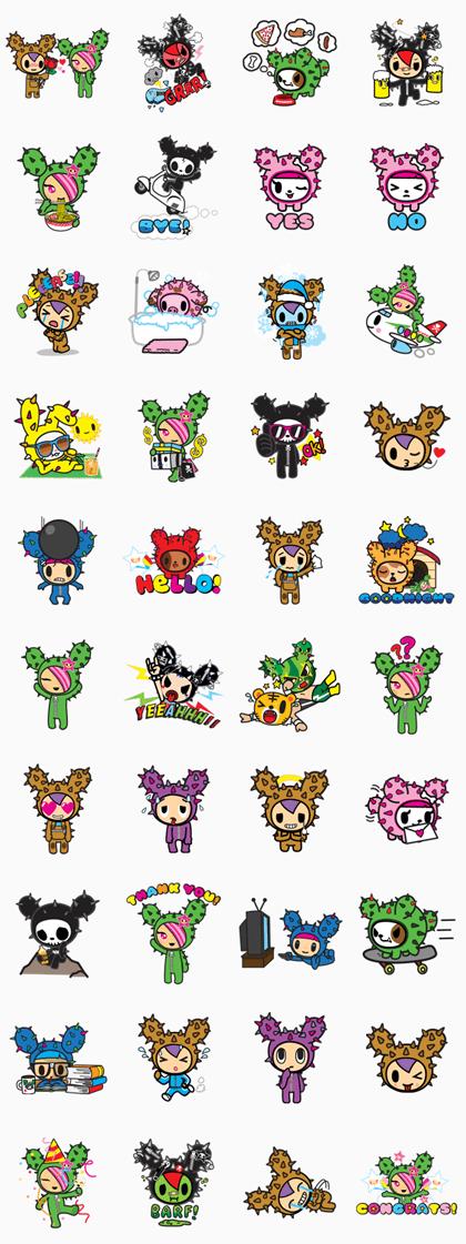 tokidoki Line Sticker GIF & PNG Pack: Animated & Transparent No Background | WhatsApp Sticker