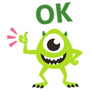 Animated Monsters, Inc. Sticker for LINE & WhatsApp | ZIP: GIF & PNG