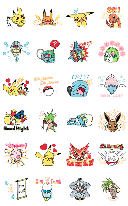Animated Pokémon Stickers Line Sticker GIF & PNG Pack: Animated & Transparent No Background   WhatsApp Sticker
