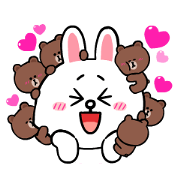 Brown & Cony's Eternal Love Sticker for LINE & WhatsApp | ZIP: GIF & PNG