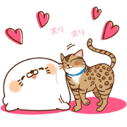 DG × Stinging Tongue Seal Sticker for LINE & WhatsApp | ZIP: GIF & PNG