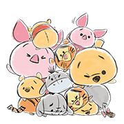 Disney Tsum Tsum Moves (Freehand Style) Sticker for LINE & WhatsApp | ZIP: GIF & PNG