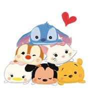 Disney Tsum Tsum Moves (Sakura Style) Sticker for LINE & WhatsApp | ZIP: GIF & PNG