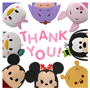 Disney Tsum Tsum Pop-Up Stickers Sticker for LINE & WhatsApp | ZIP: GIF & PNG