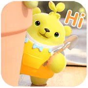 Dooro Bear's Daily Sticker for LINE & WhatsApp | ZIP: GIF & PNG