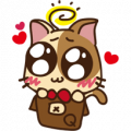 Fish123 ♪~ Master MiMi Sticker for LINE & WhatsApp | ZIP: GIF & PNG