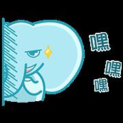 Fish123 x Beebee Heart Sticker for LINE & WhatsApp | ZIP: GIF & PNG