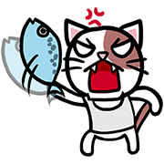 Fish123's Boss Cat Sticker for LINE & WhatsApp | ZIP: GIF & PNG