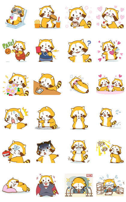 GOGO! RASCAL Animated Stickers Line Sticker GIF & PNG Pack: Animated & Transparent No Background | WhatsApp Sticker