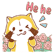 Gentle Rascal Pop-Up Stickers Sticker for LINE & WhatsApp | ZIP: GIF & PNG