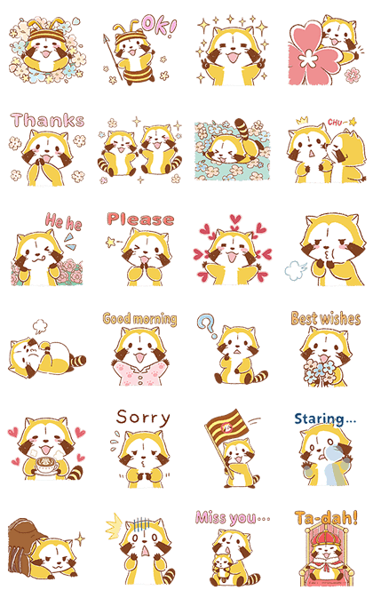 Gentle Rascal Pop-Up Stickers Line Sticker GIF & PNG Pack: Animated & Transparent No Background | WhatsApp Sticker