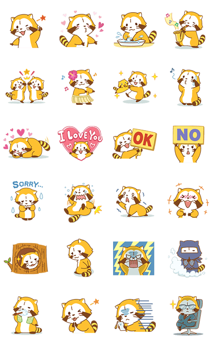 Happy ☆ RASCAL Animated Stickers Line Sticker GIF & PNG Pack: Animated & Transparent No Background | WhatsApp Sticker