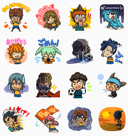INAZUMA ELEVEN GO Line Sticker GIF & PNG Pack: Animated & Transparent No Background | WhatsApp Sticker